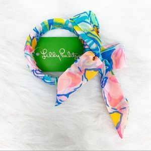 NWT Lilly Pulitzer Fabric Wrapped Bangle